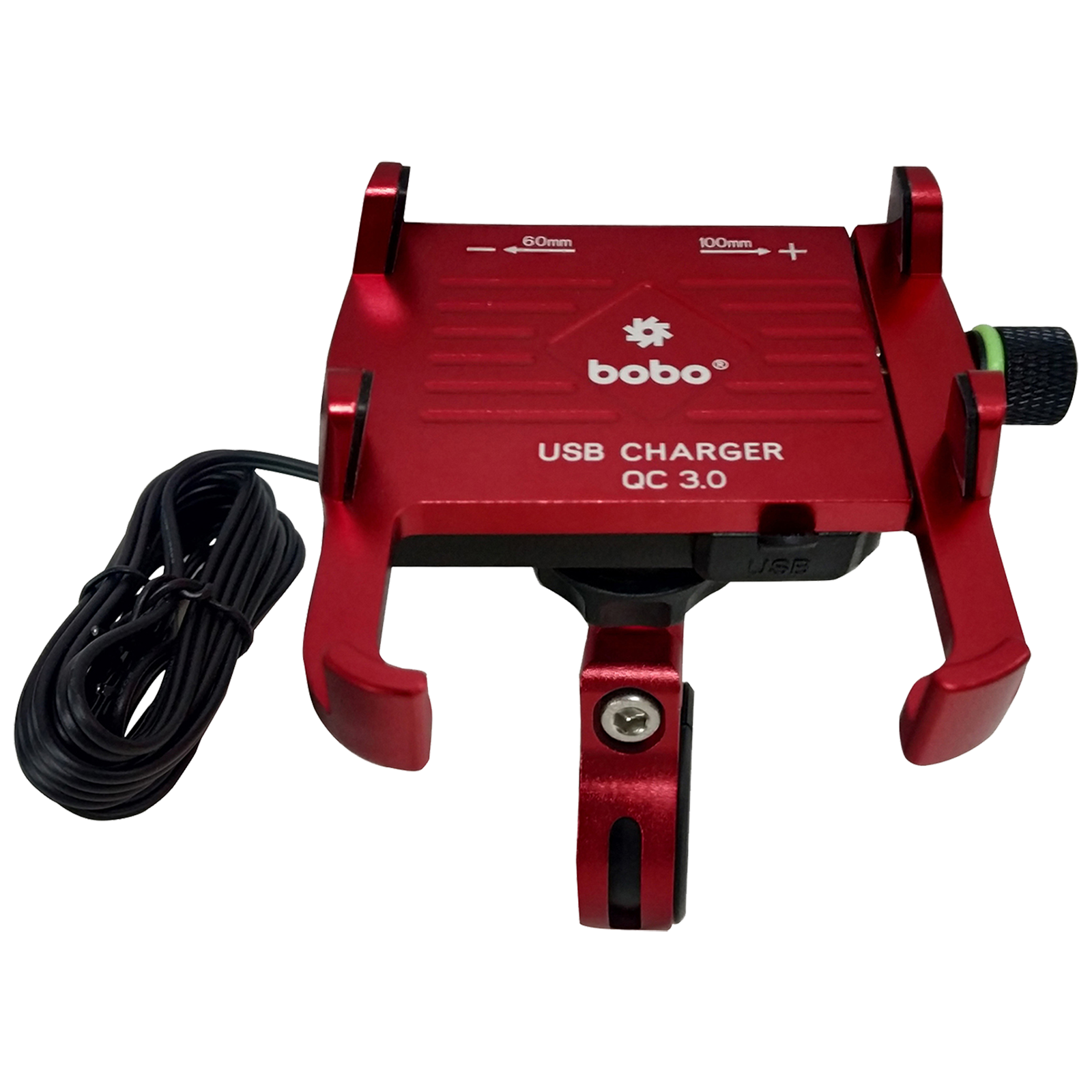 Bobo BM5 Claw-Grip Aluminium Mounting Kit For Bike (With Fast USB 3.0 Charger, BB-BM-005-001002, Red)_1