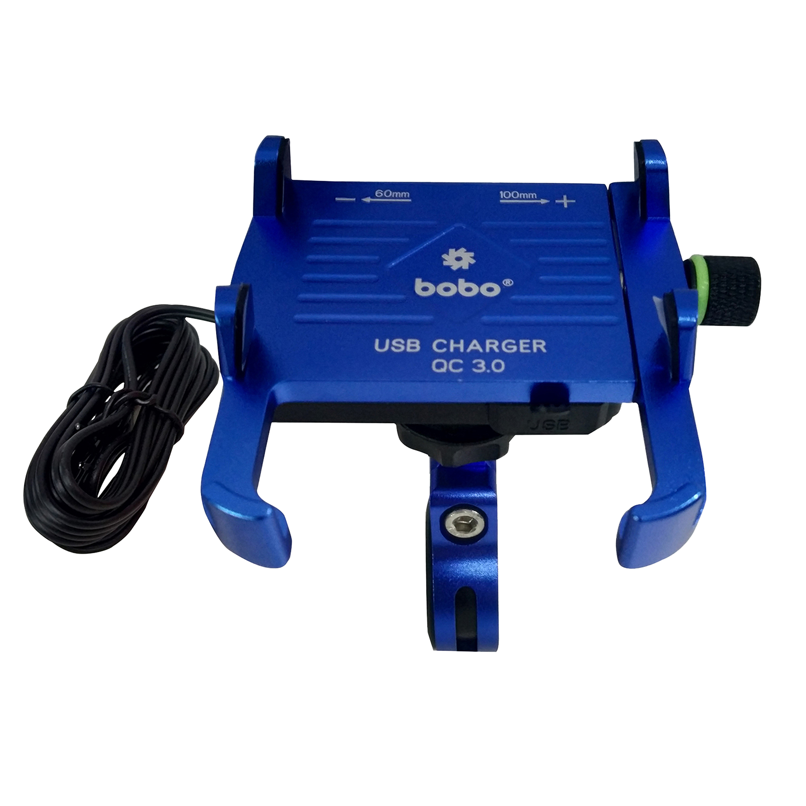 Bobo BM5 Claw-Grip Aluminium Mounting Kit For Bike (With Fast USB 3.0 Charger, BB-BM-005-001003, Blue)_1