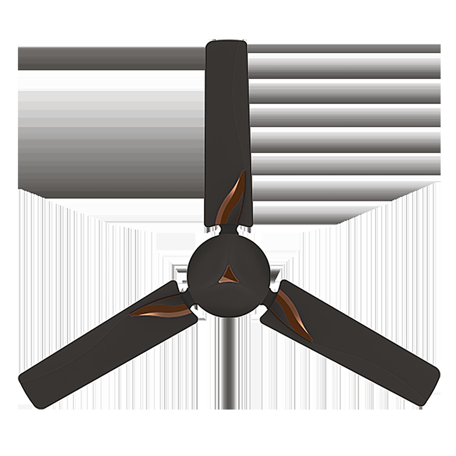 Crompton Modern Leaf 120cm 3 Blade Ceiling Fan (CFHSMLF48SBR, Smoked Brown)_1