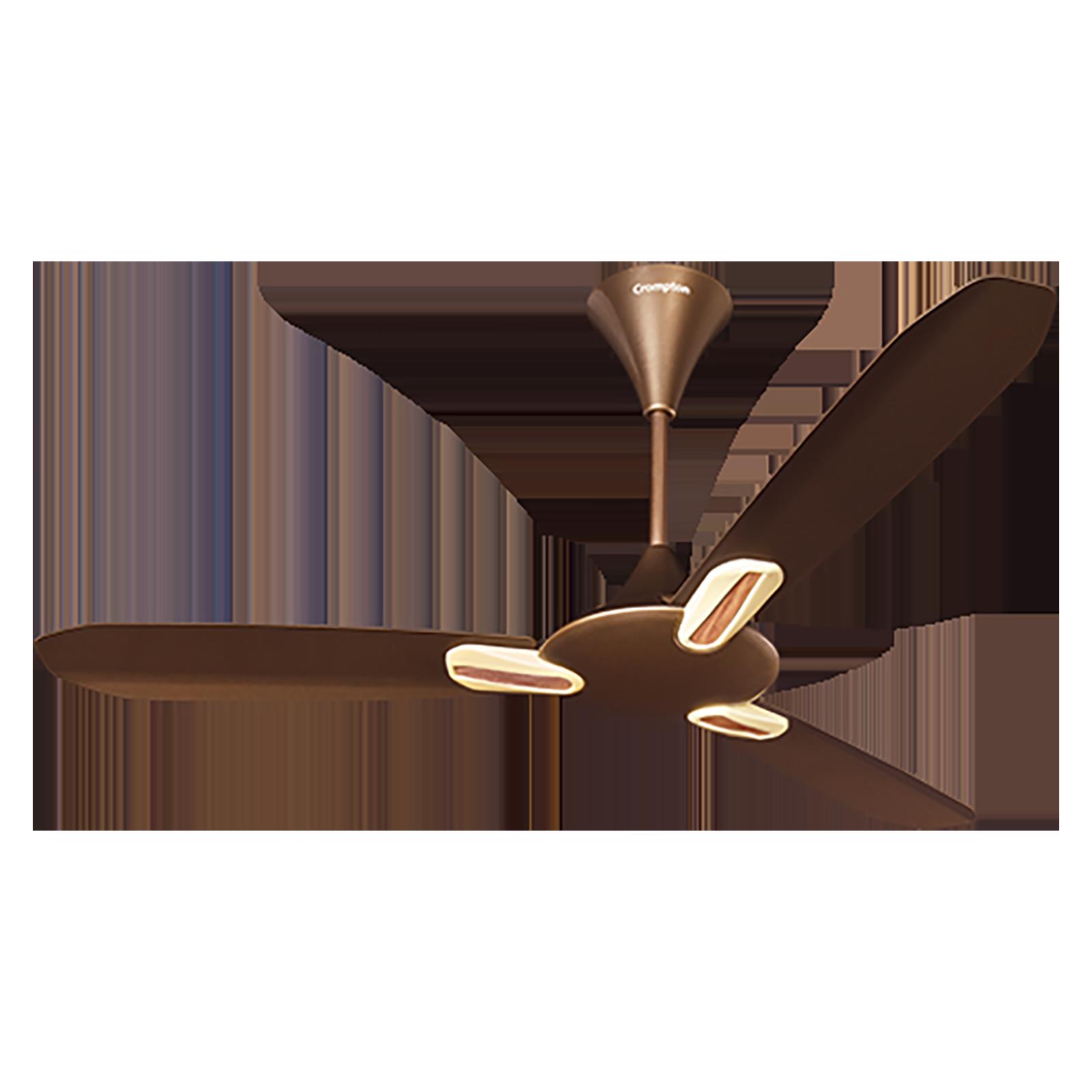 Crompton Dignita 120cm 3 Blade Ceiling Fan (Anti-Dust Technology, DIGNITAAD48CRML, Caramel)_1