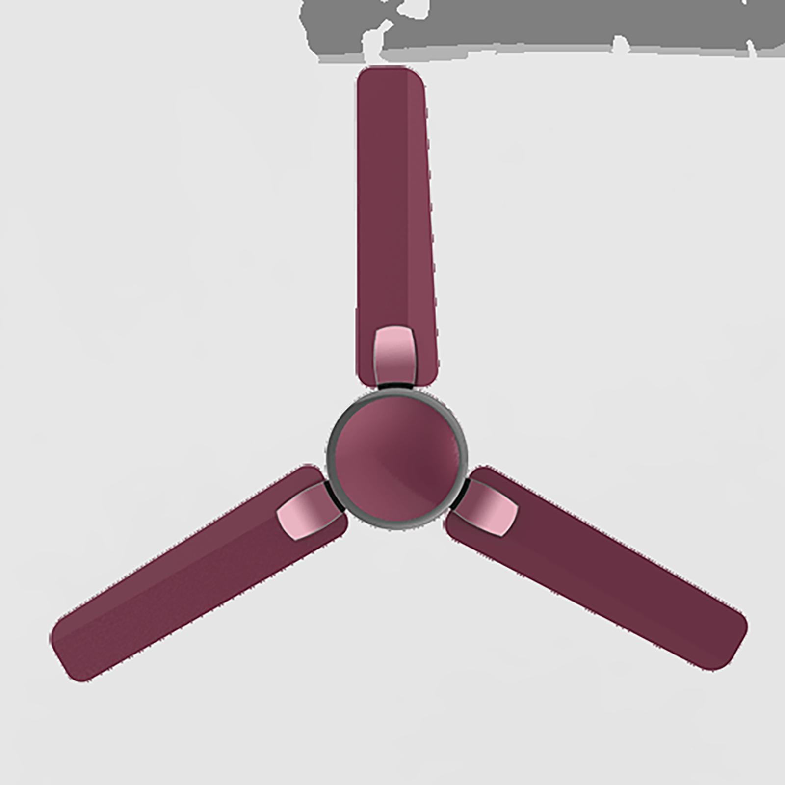 Crompton Markle Prime 120cm 3 Blade Ceiling Fan (Anti-Dust Technology, CFHSMKPM48BGDAD1S, Burgundy)_1