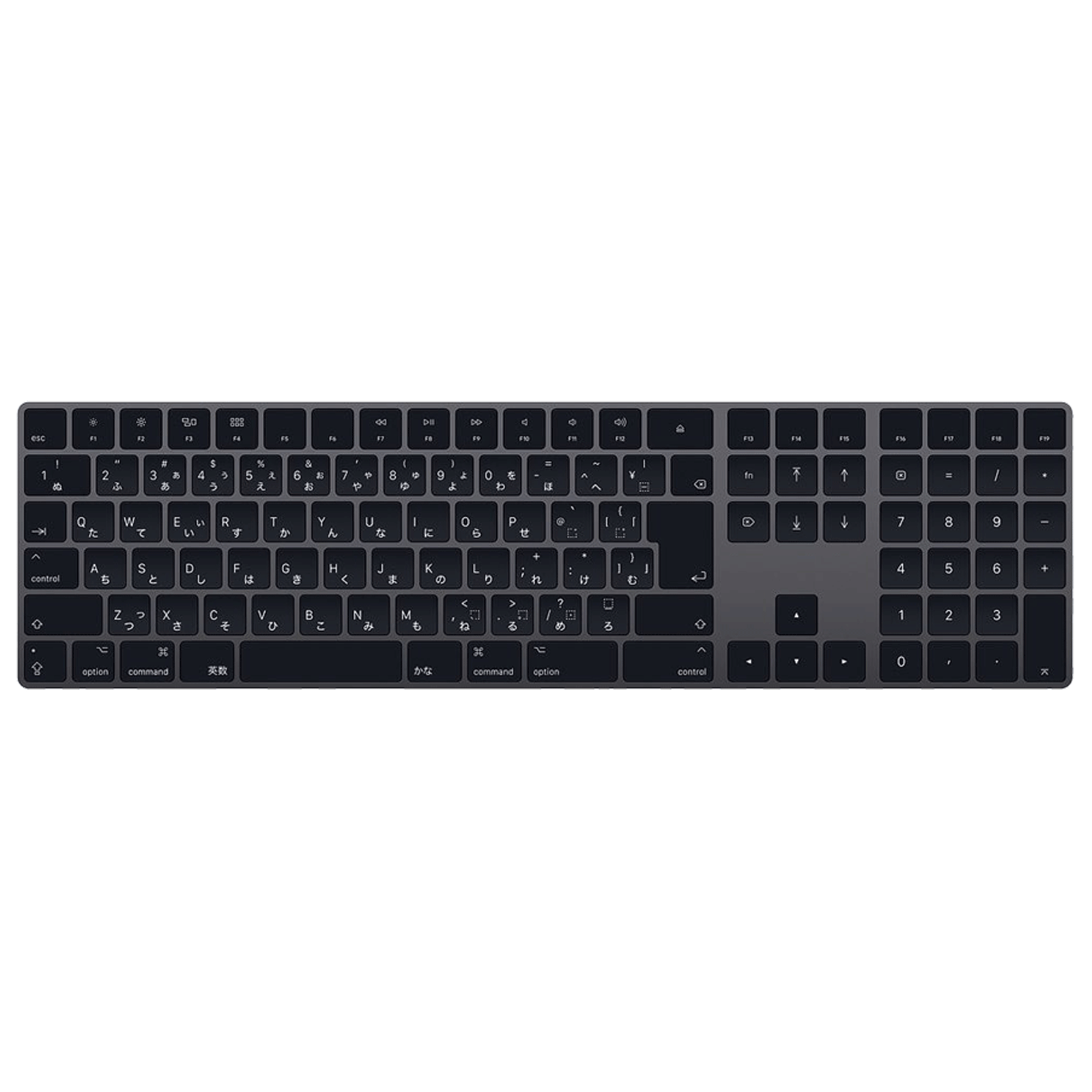 Apple Magic Wireless & Bluetooth & USB Keyboard (Rechargeable Battery, MRMH2HN/A, Space Grey)_1