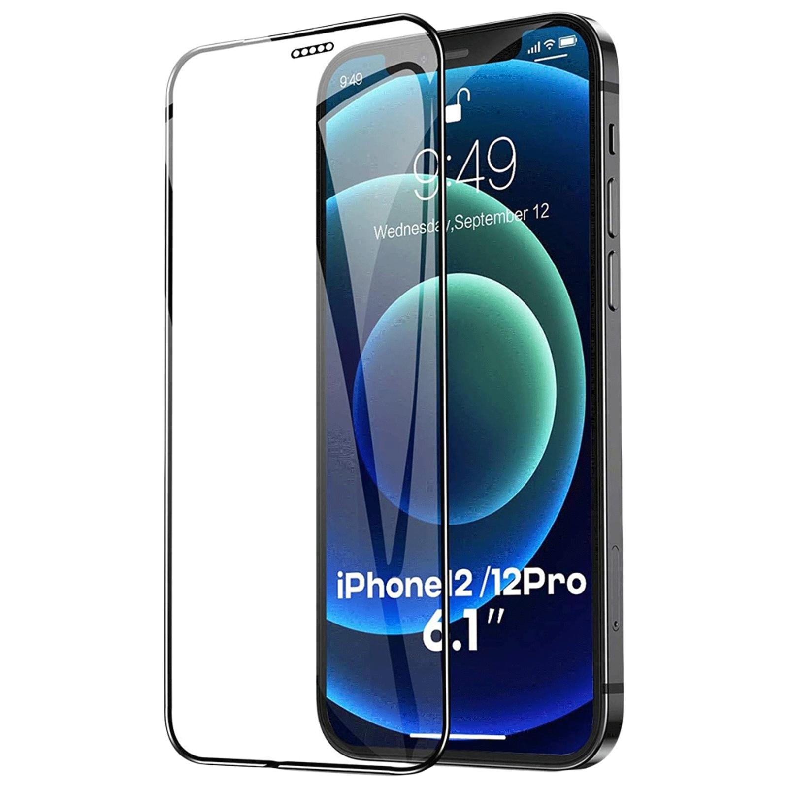Dr. Vaku Dustfilter 3D Screen Protector For Apple iPhone 12 & iPhone 12 Pro (9H Hardness, VAKU-IPH12P-DUSTBL, Black)_1