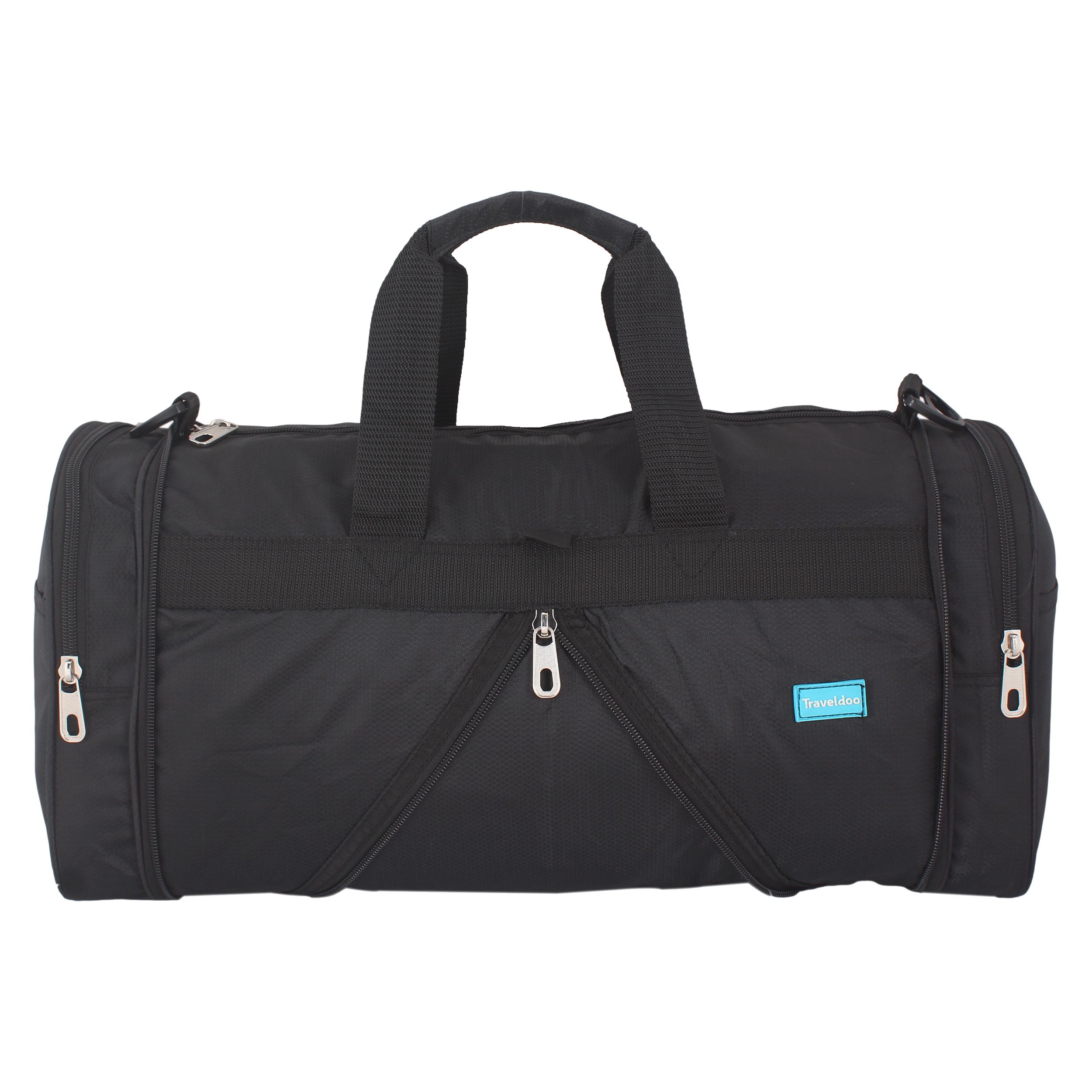 Traveldoo 28 inch Square Folding Duffle Bag (DBS03001, Black)_1