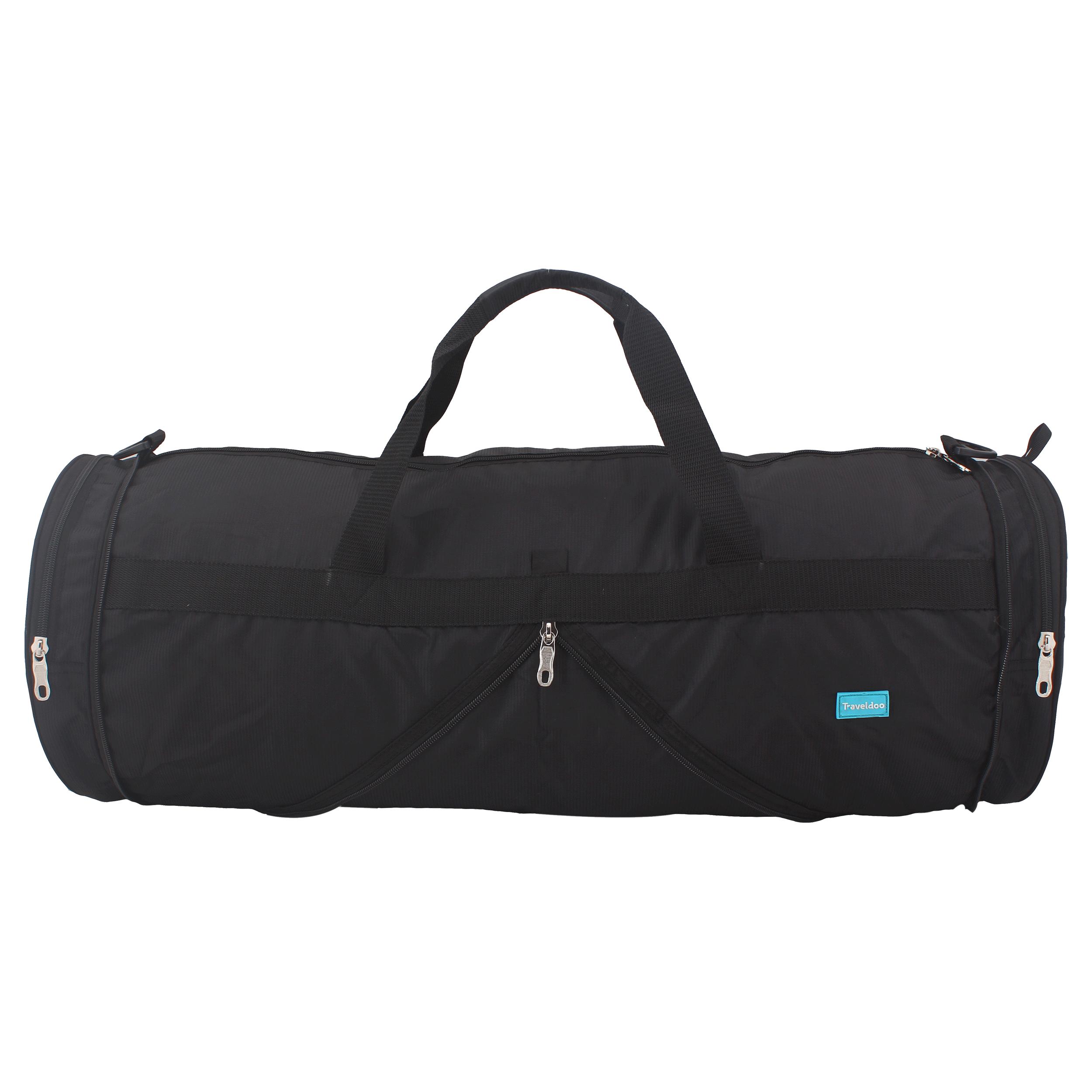 Traveldoo 28 inch Round Folding Duffle Bag (DBR03001, Black)_1