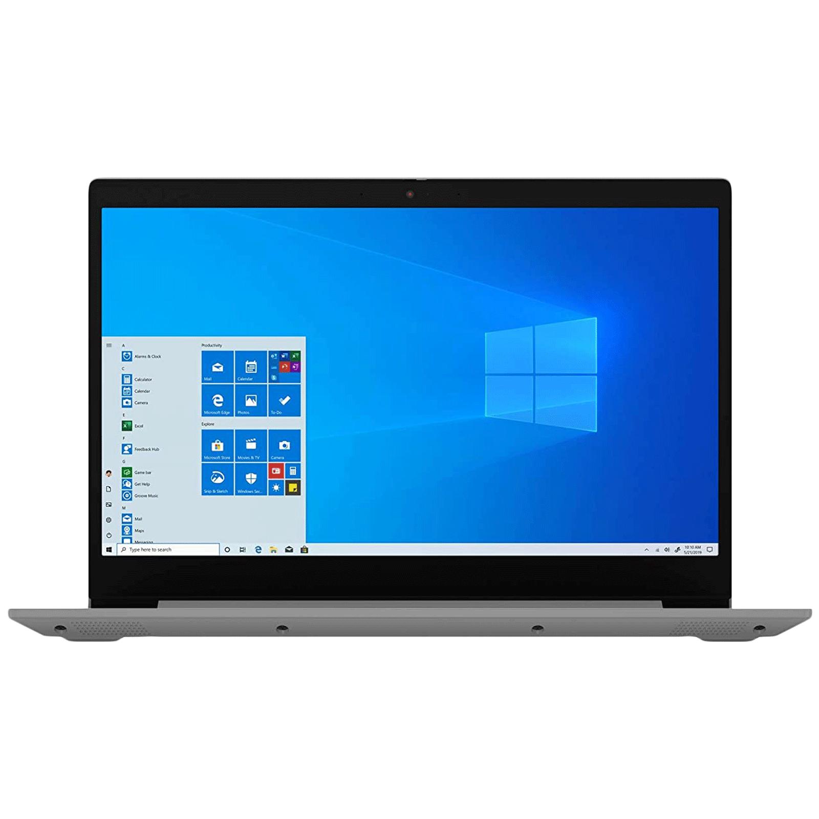 Lenovo IdeaPad 3 15IML05 Core i3 10th Gen Windows 10 Home Thin and Light Laptop (8GB RAM, 256GB SSD, Intel UHD Graphics, MS Office, 39.62cm, Platinum Grey)_1