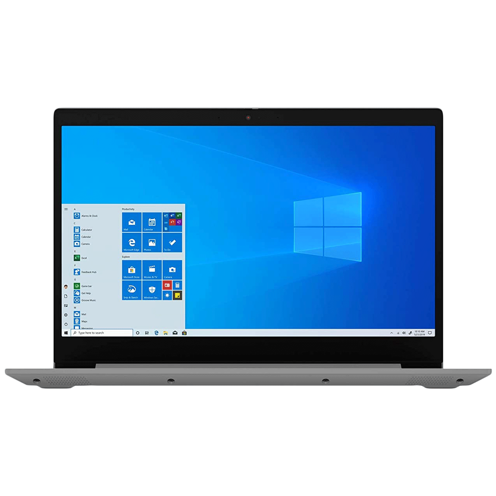 Lenovo IdeaPad 3 15ADA05 Ryzen 3 Windows 10 Home Thin and Light Laptop (8GB RAM, 256GB SSD, AMD Radeon Graphics, MS Office, 39.6cm, 81W101QYIN, Platinum Grey)_1