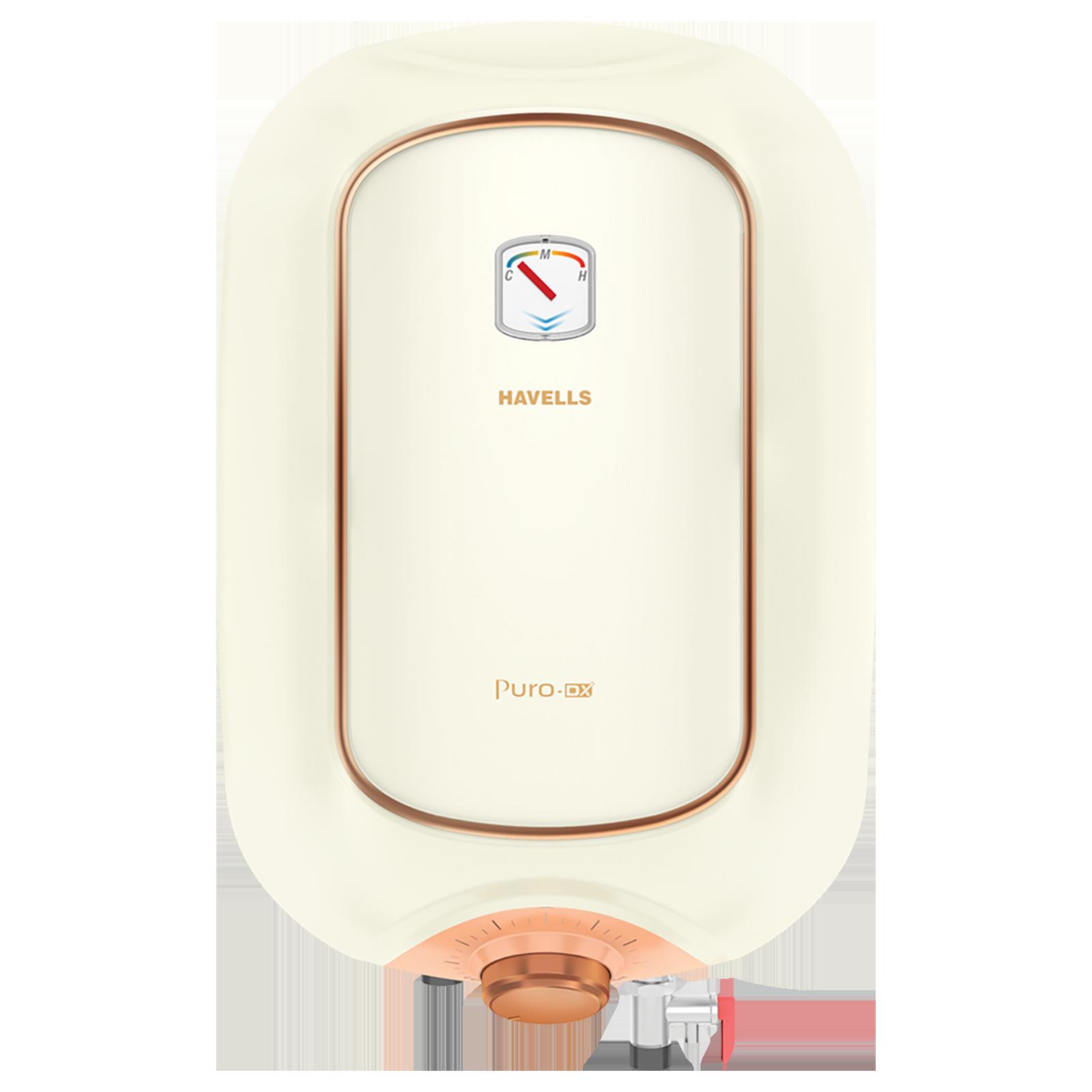 Havells Puro DX 10 Litres Vertical Storage Water Geyser (GHWAPDTIV010, Ivory Pink)_1