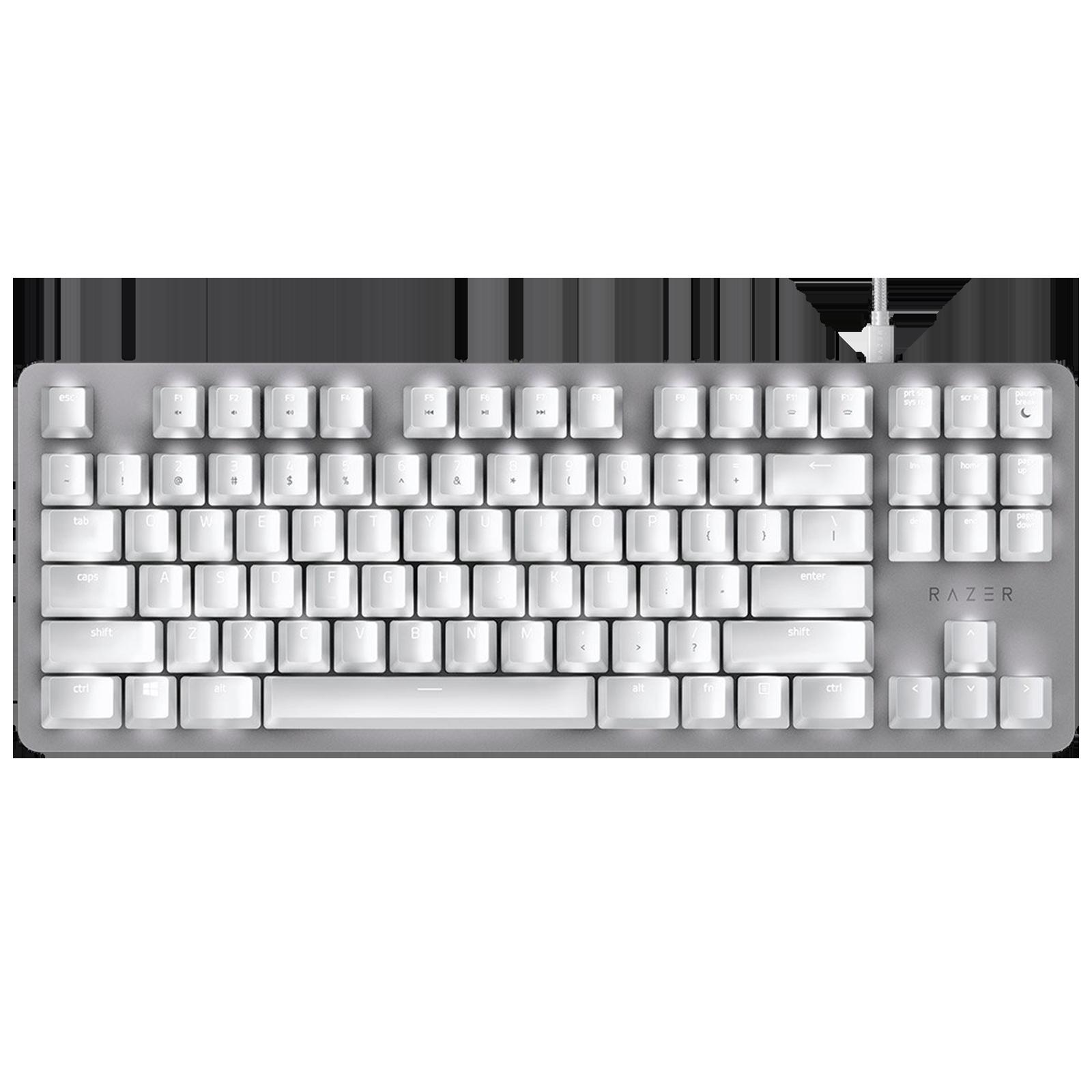 Razer BlackWidow Lite Wired Gaming Keyboard (Orange Mechanical Switch, RZ03-02640700-R3M1, Mercury)_1