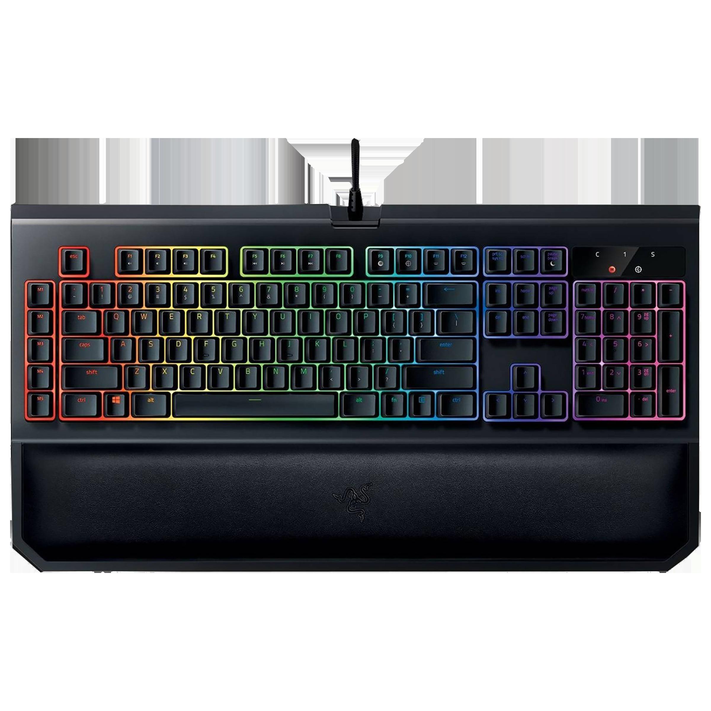 Razer BlackWidow Tournament Edition Chroma V2 Wired Gaming Keyboard (Green Mechanical Switch, RZ03-02190100-R3M1, Black)_1