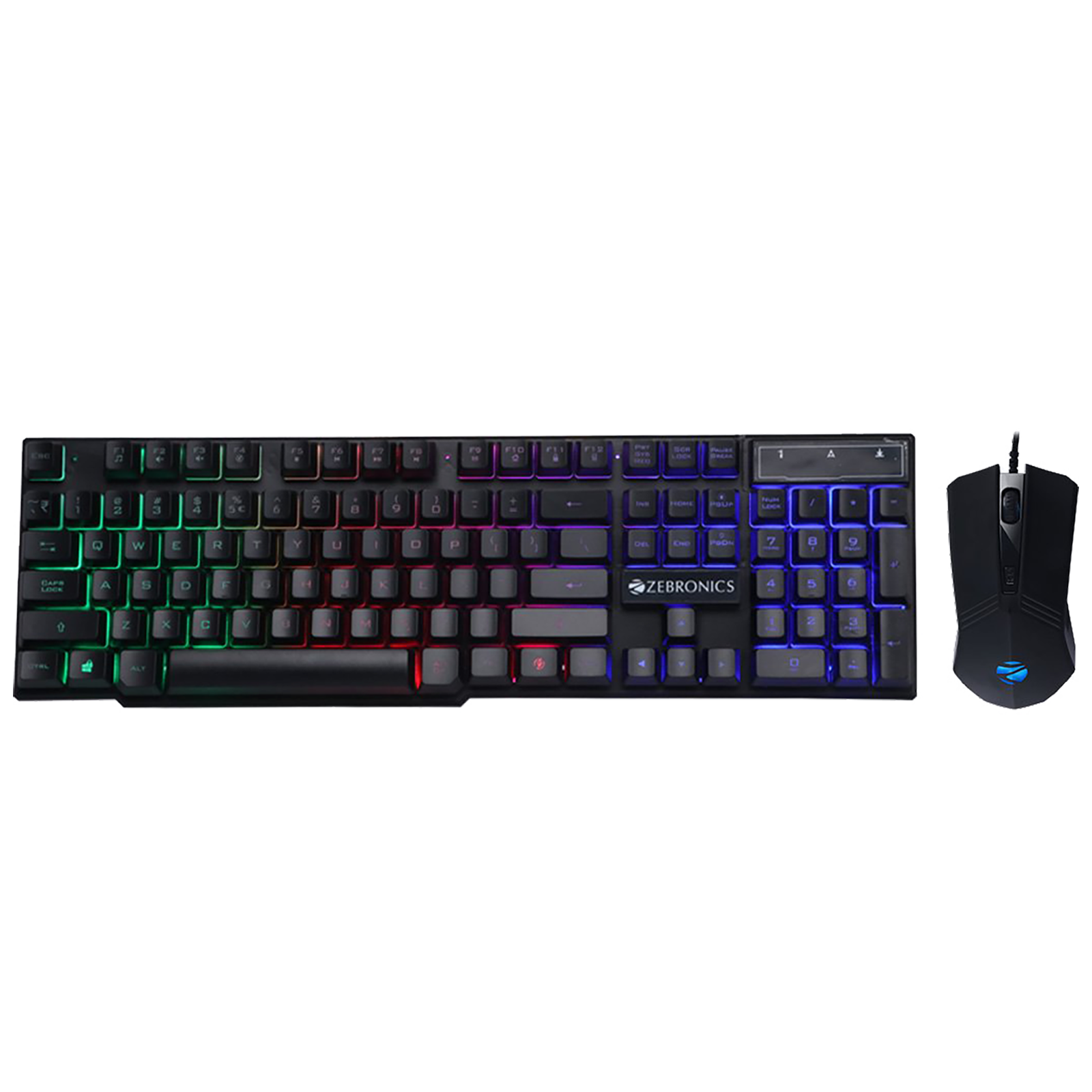 Zebronics USB Optical Keyboard & Mouse Combo (Braided Cable, Fighter, Black)_1