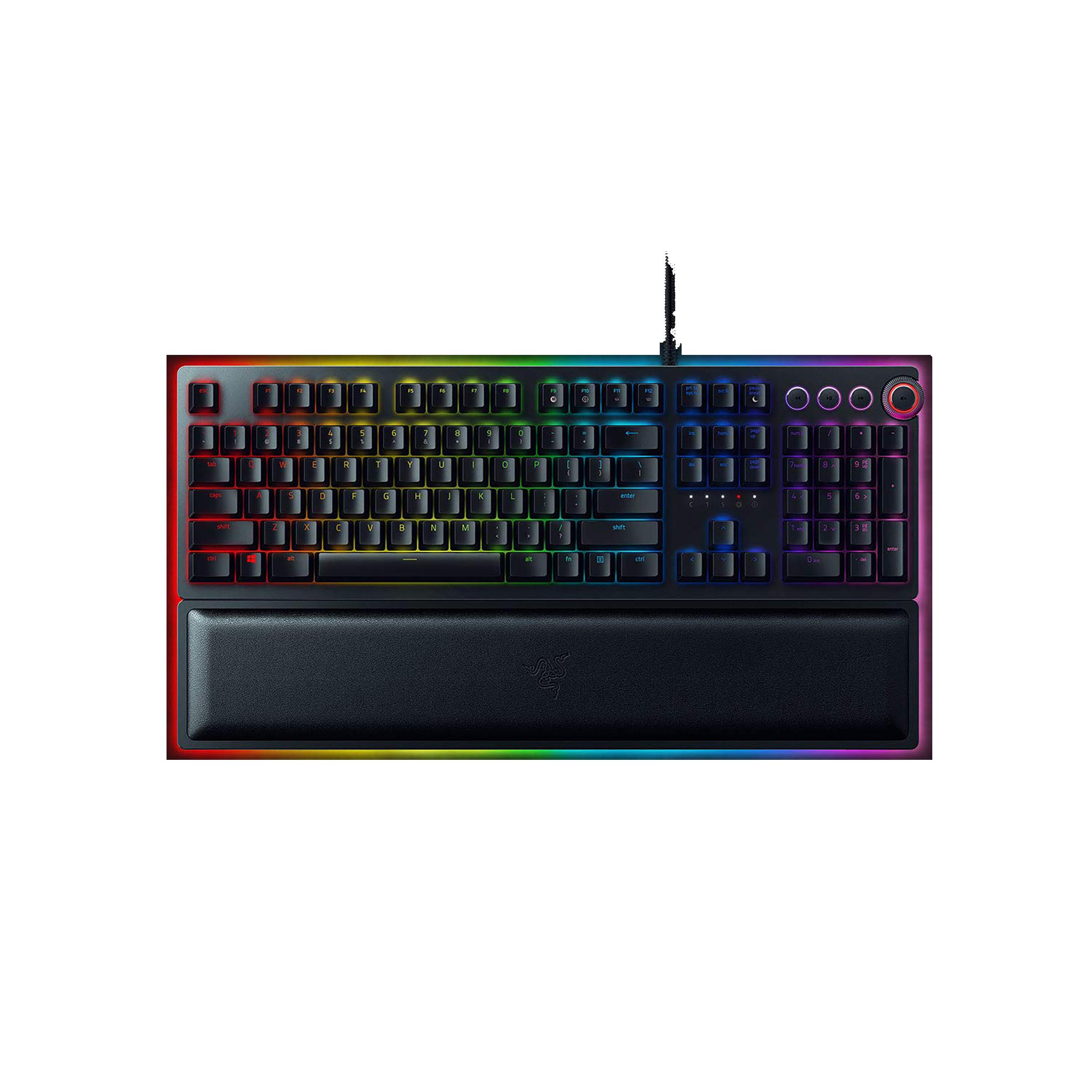 Razer Huntsman Elite Wired Gaming Keyboard (Opto-Mechanical Switch, RZ03-01870100-R3M1, Black)_1