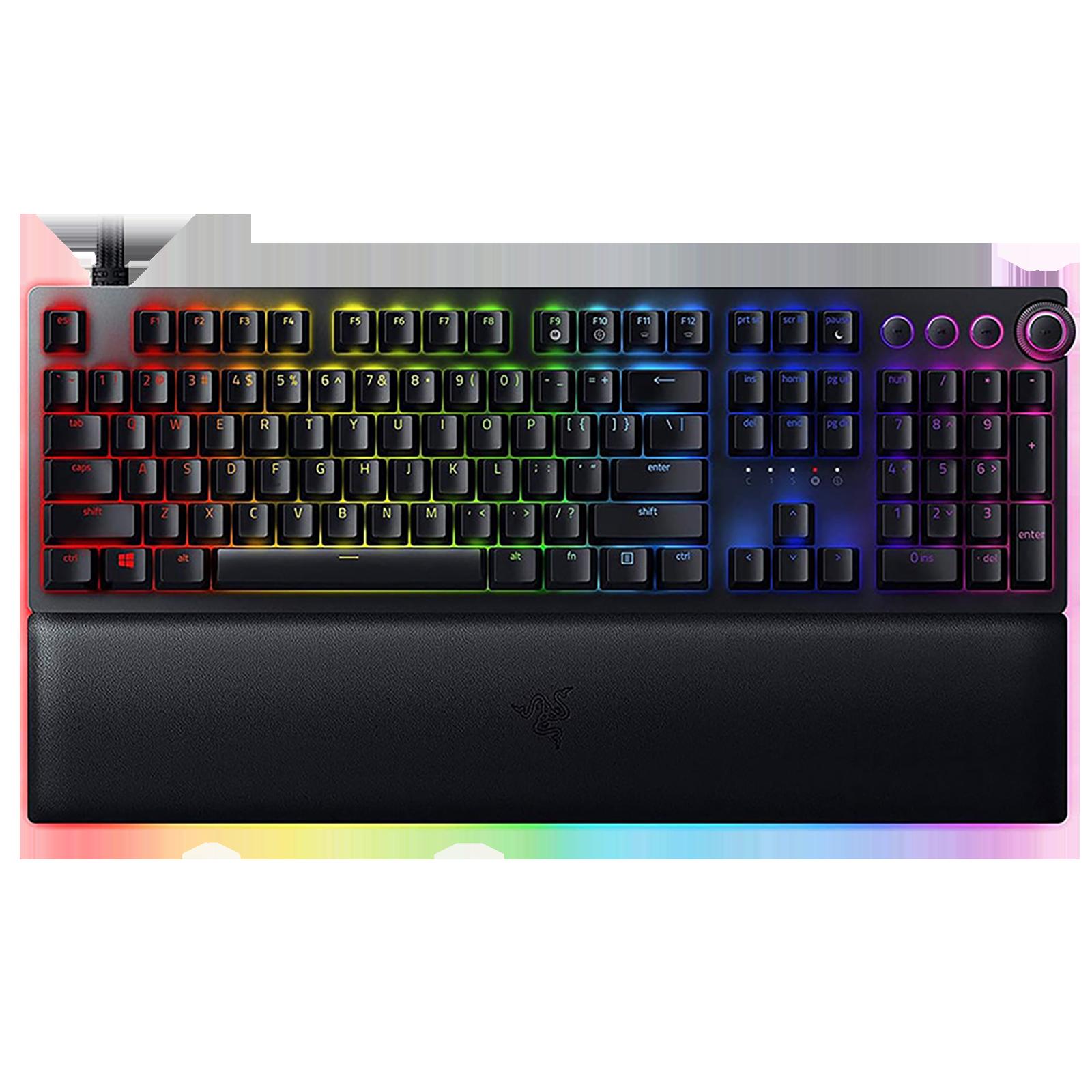Razer Huntsman V2 Wired Gaming Keyboard (Doubleshot PBT Keycaps, RZ03-03610100-R3M1, Black)_1