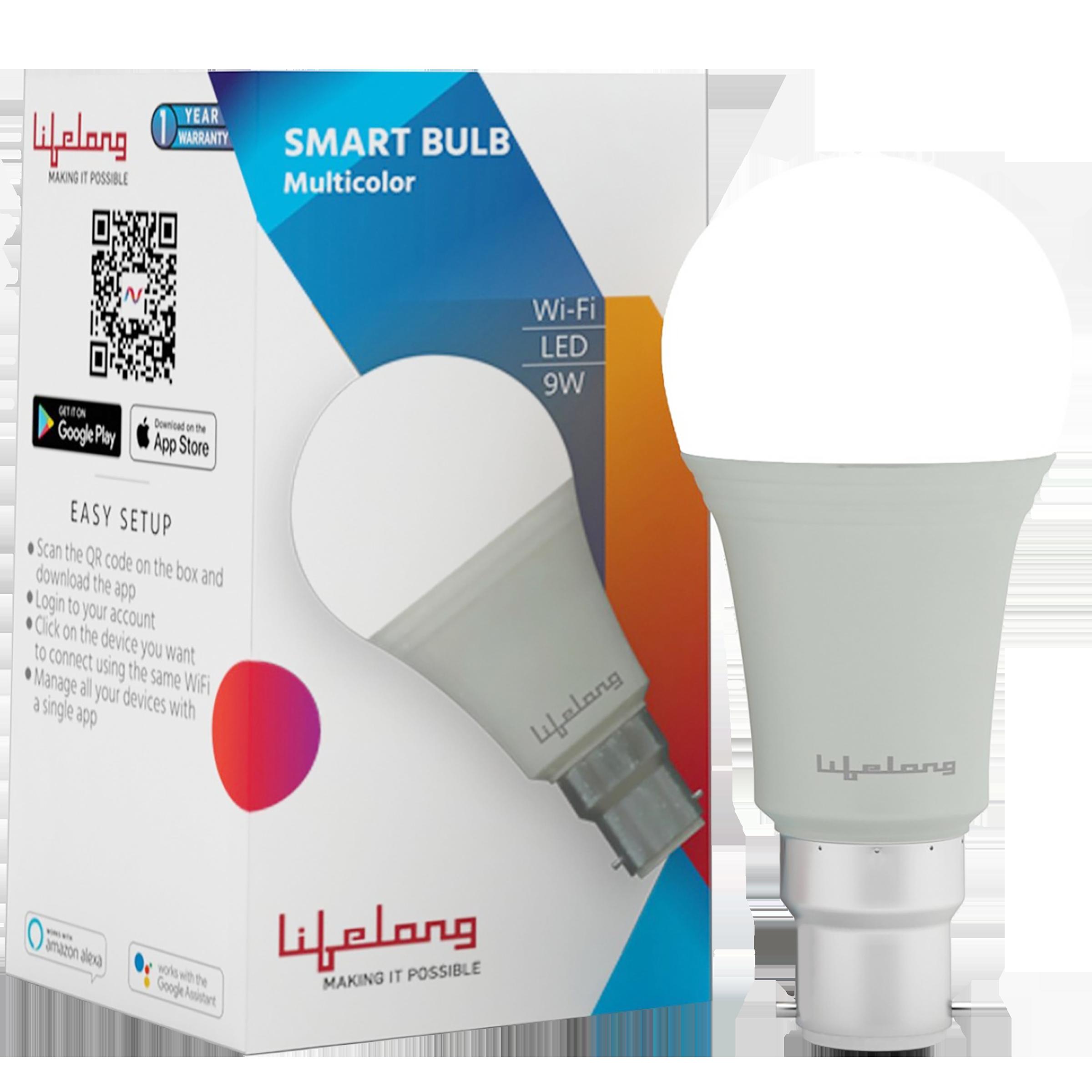 Lifelong 9 Watts Electric Powered LED Bulb (810 Lumens, LLSB9W, Multicolor)_1