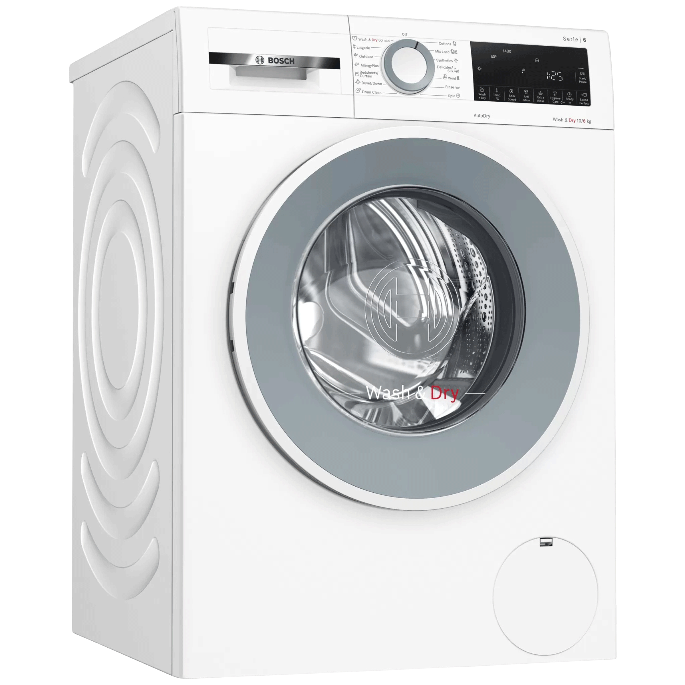 BOSCH Serie 6 10 kg/6kg Fully Automatic Front Load Washer Dryer Combo (In-built Heater, WNA254U0IN, White)_1
