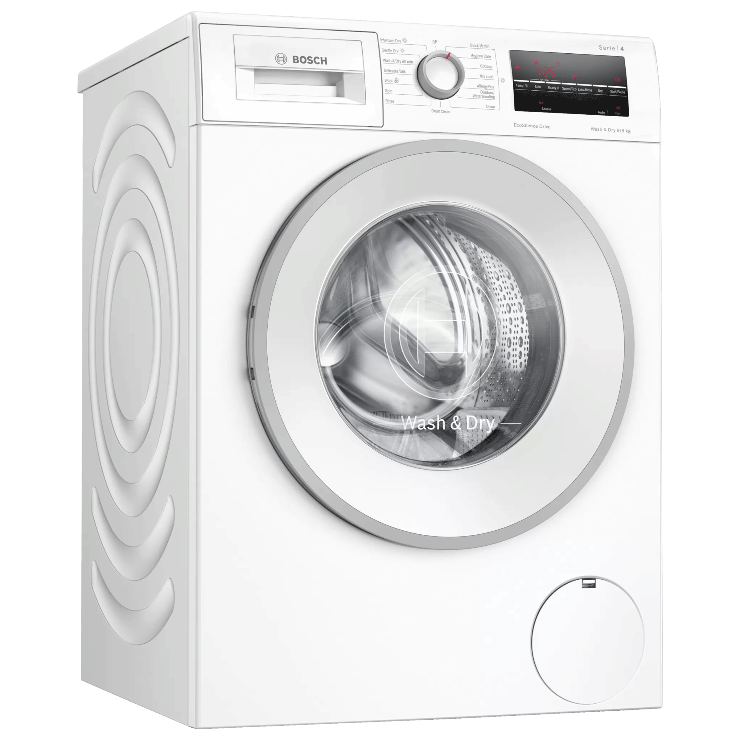 BOSCH Serie 6 9 kg/6 kg 5 Star Fully Automatic Front Load Washer Dryer Combo (VarioInverter, WNA14400IN, White)_1