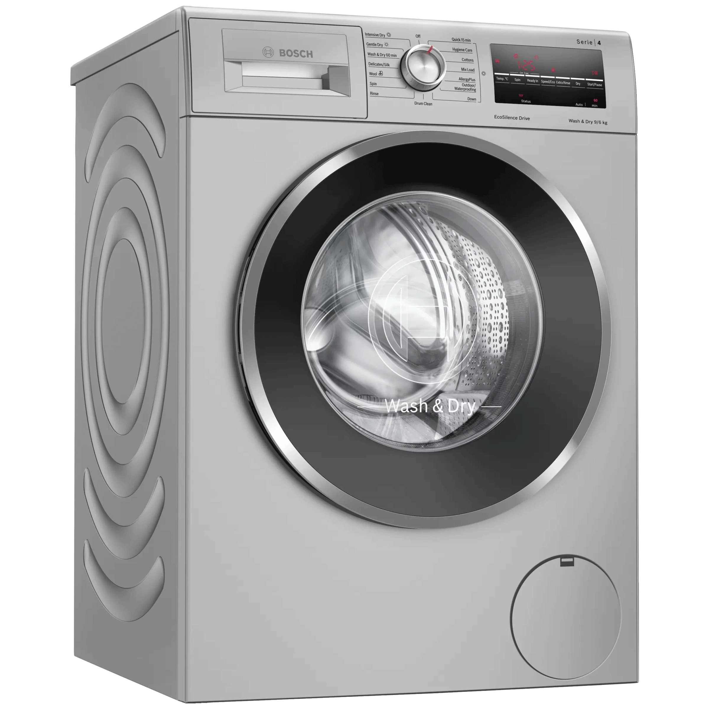 Bosch Serie 6 9 kg/6 kg 5 Star Fully Automatic Front Load Washer Dryer Combo (VarioPerfect Wash Technique, WNA14408IN, Silver)_1