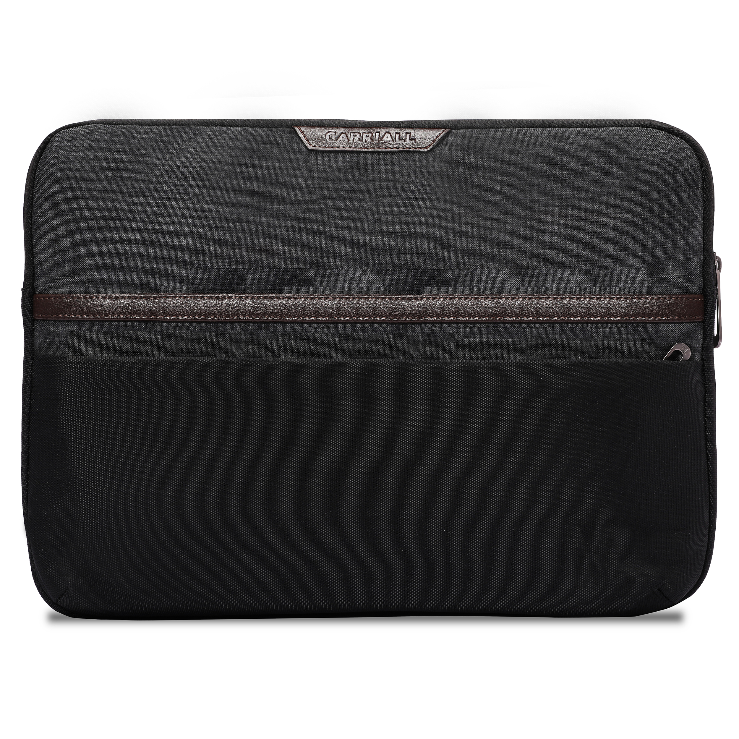 Carriall Urbane Durable Fabric Sleeve for 14 inch Laptop (Water Resistant, CALSURBANB2, Black)_1
