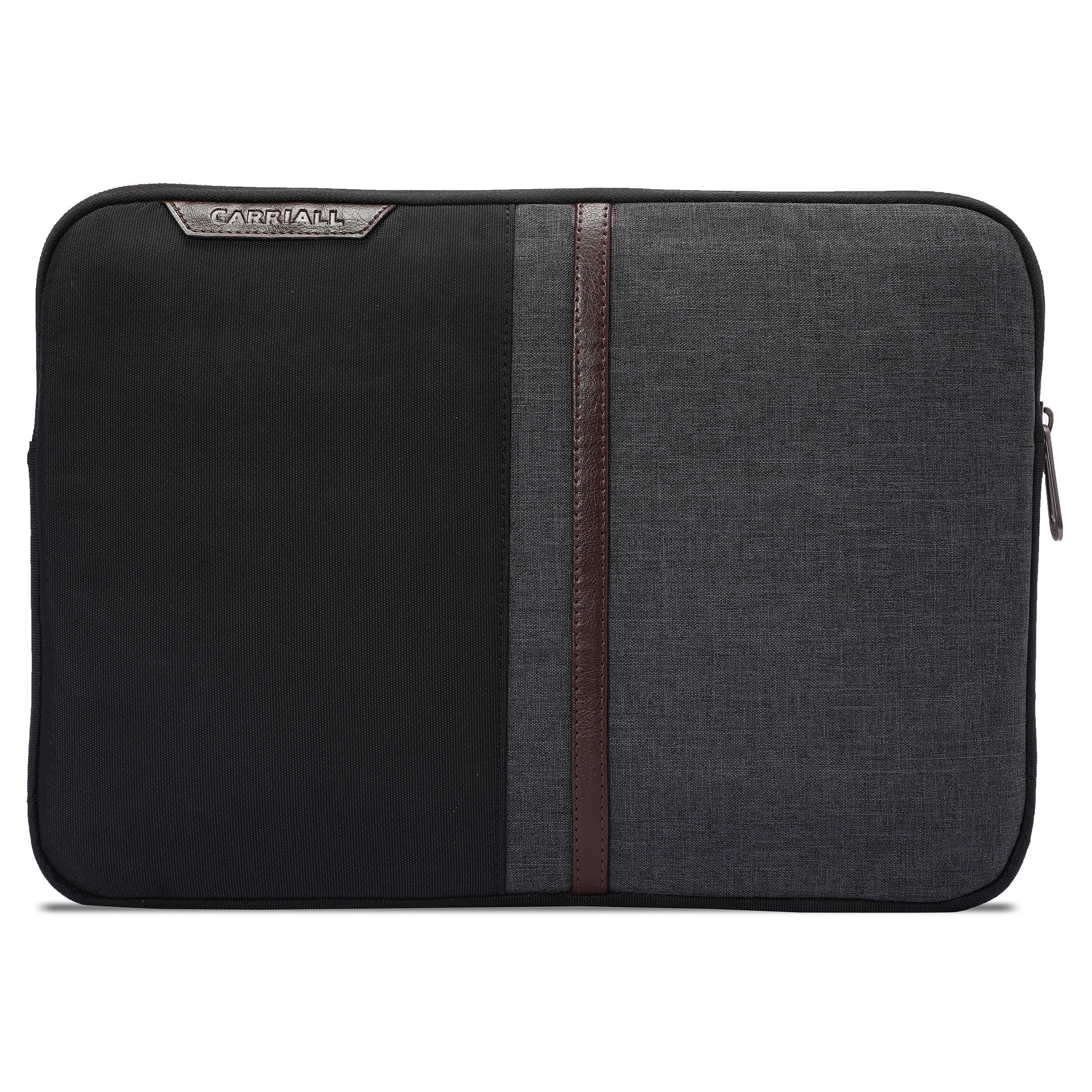Carriall Suave Durable Fabric Sleeve for 14 inch Laptop (Water Resistant, CALSSUAVEB2, Black)_1