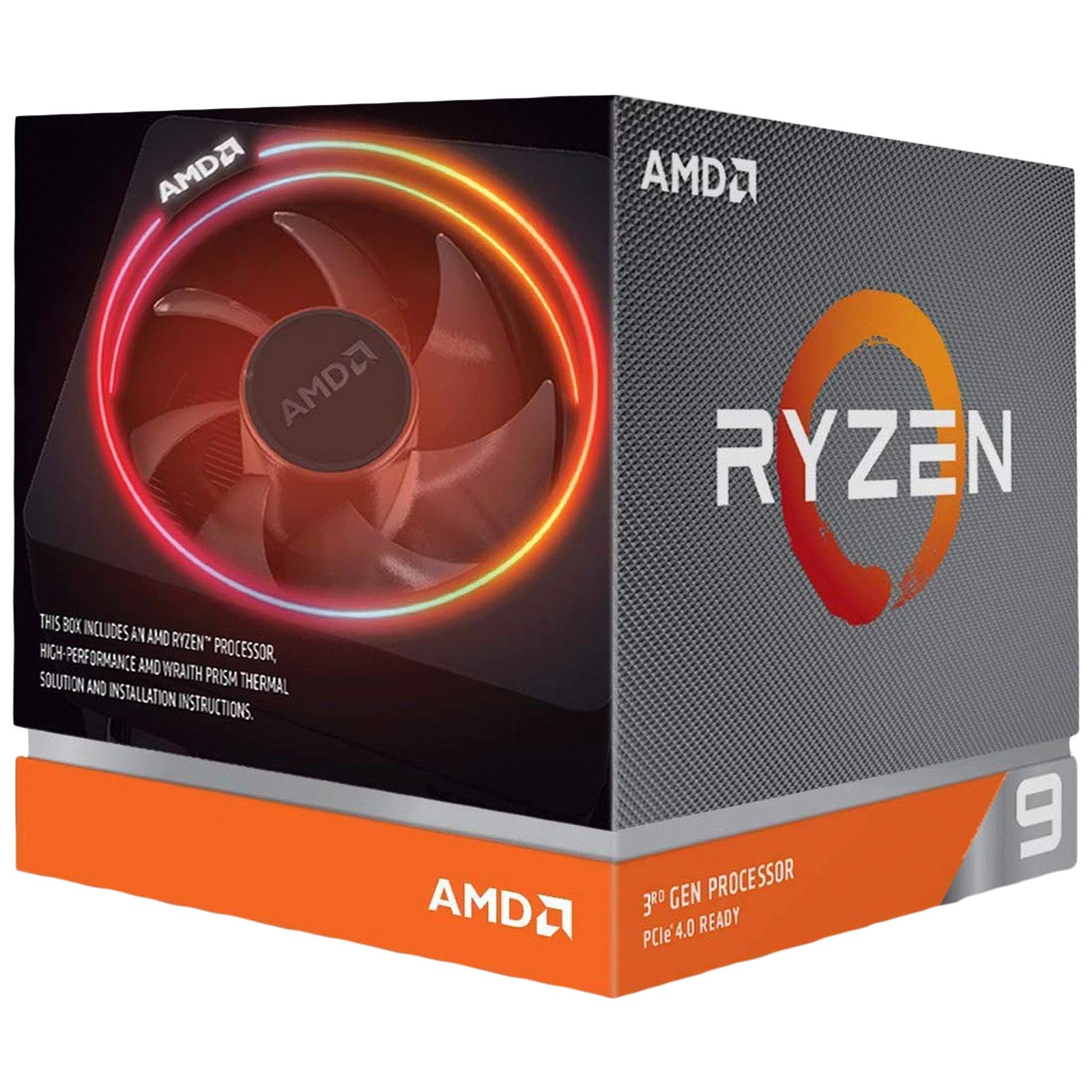 AMD Ryzen 9 Desktop Processor (12 Cores, 3.8 GHz, PCIe 4.0 x16, 3900X, Silver)_1