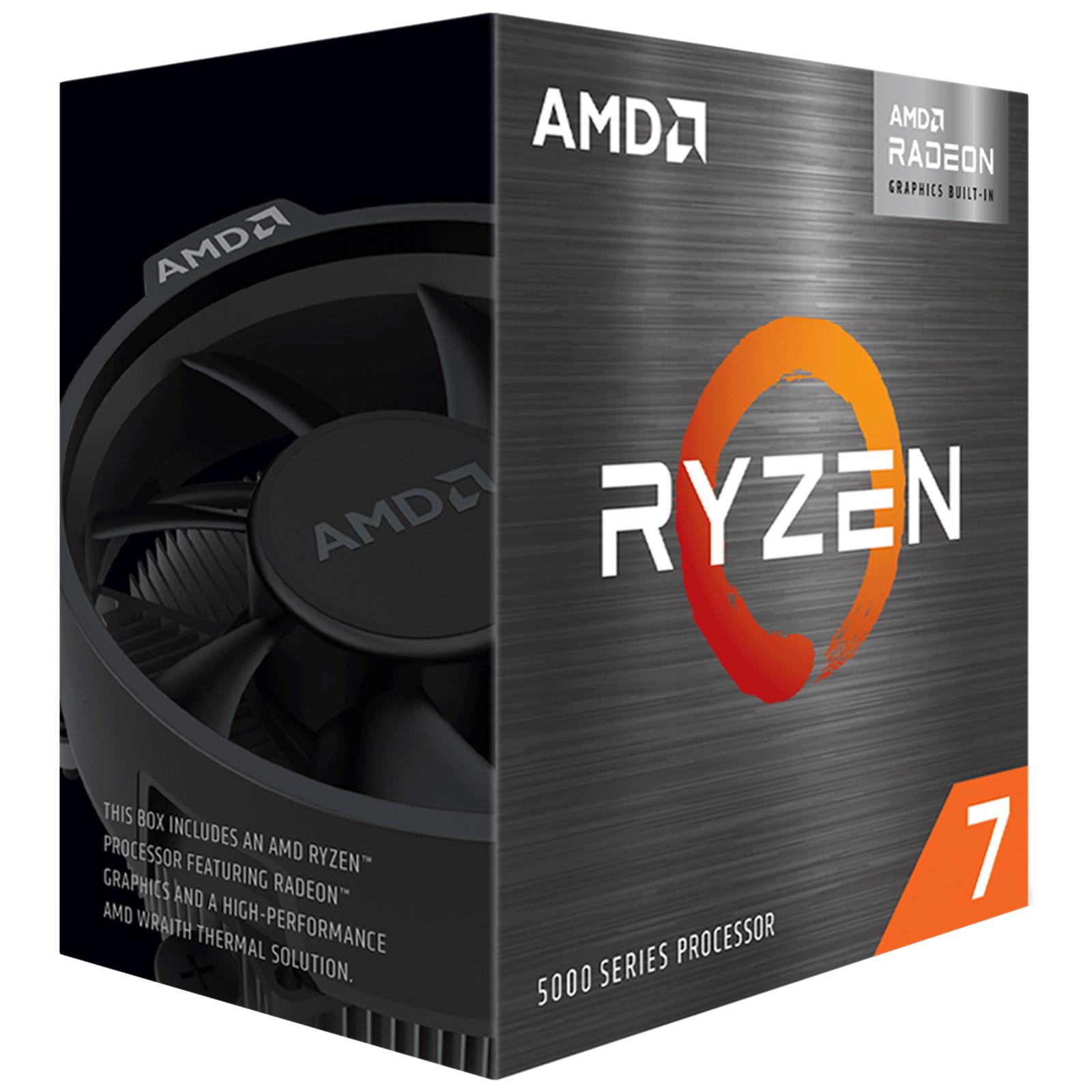 AMD Ryzen 7 Desktop Processor (8 Cores, 3.8 GHz, PCIe 3, 5700G, Silver)_1