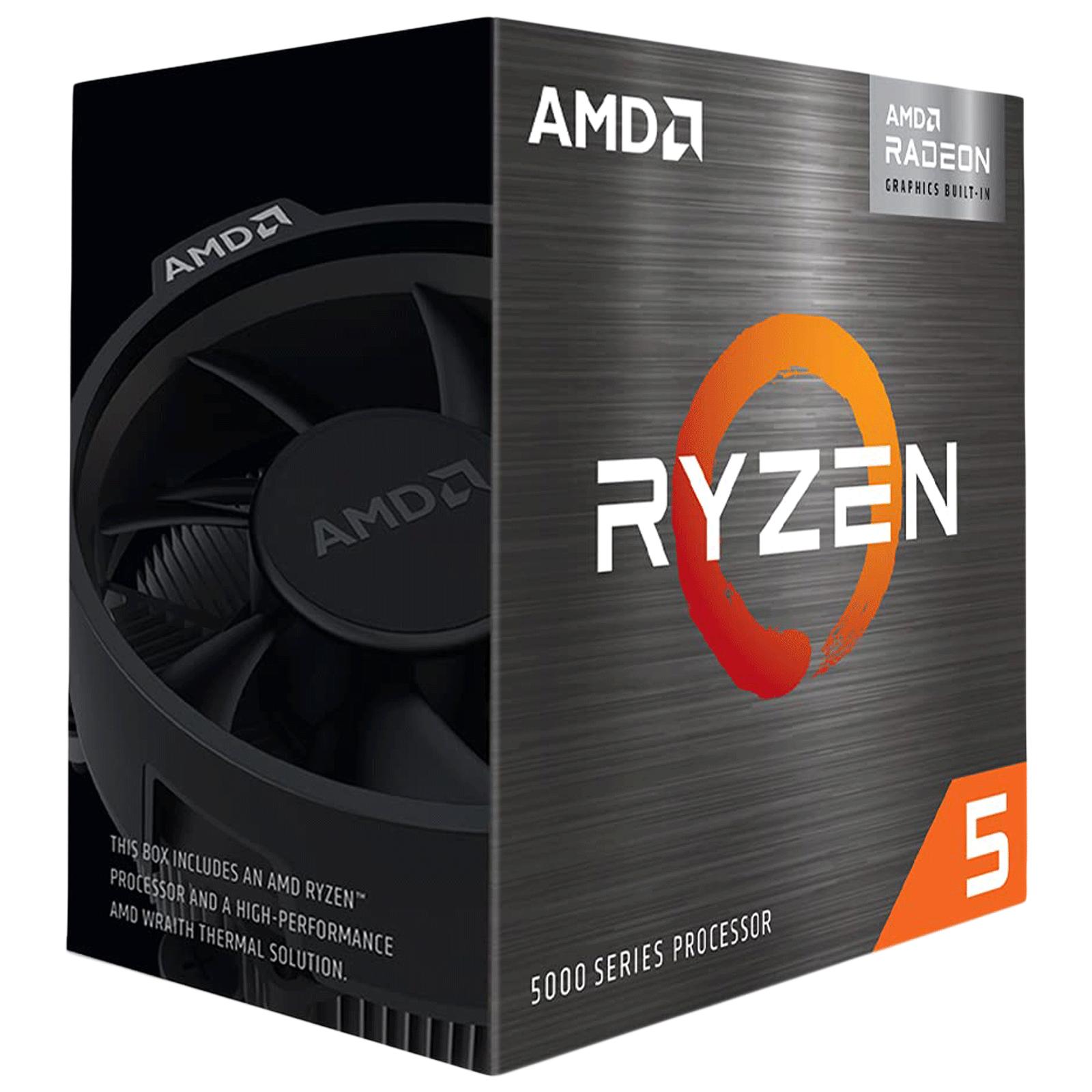 AMD Ryzen 5 Desktop Processor (6 Cores, 3.9 GHz, Wraith Stealth Cooling, 5600G, Silver)_1