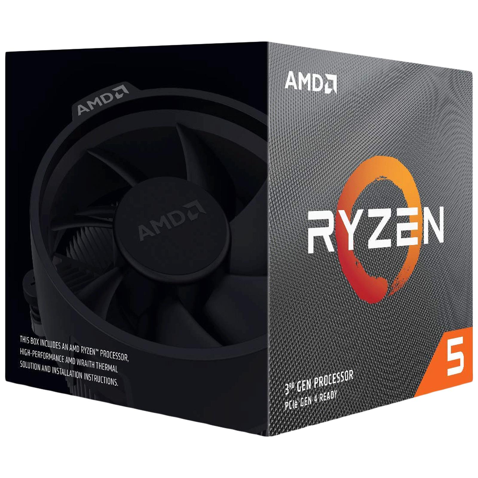 AMD Ryzen 5 Desktop Processor (6 Cores, 3.6 GHz, Wraith Stealth, 3500, Silver)_1