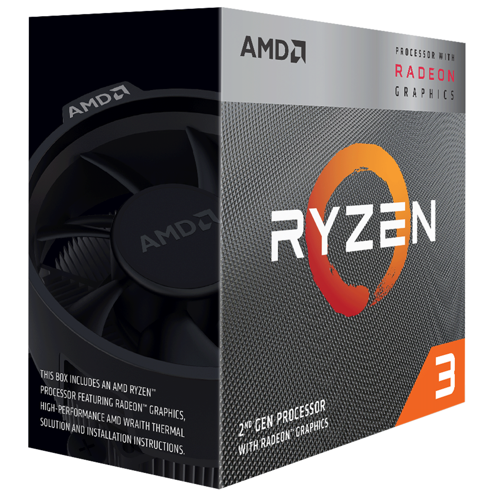 AMD Ryzen 3 Desktop Processor (4 Cores, 3.6 GHz, Radeon Vega 8 Graphics, 3200G, Silver)_1