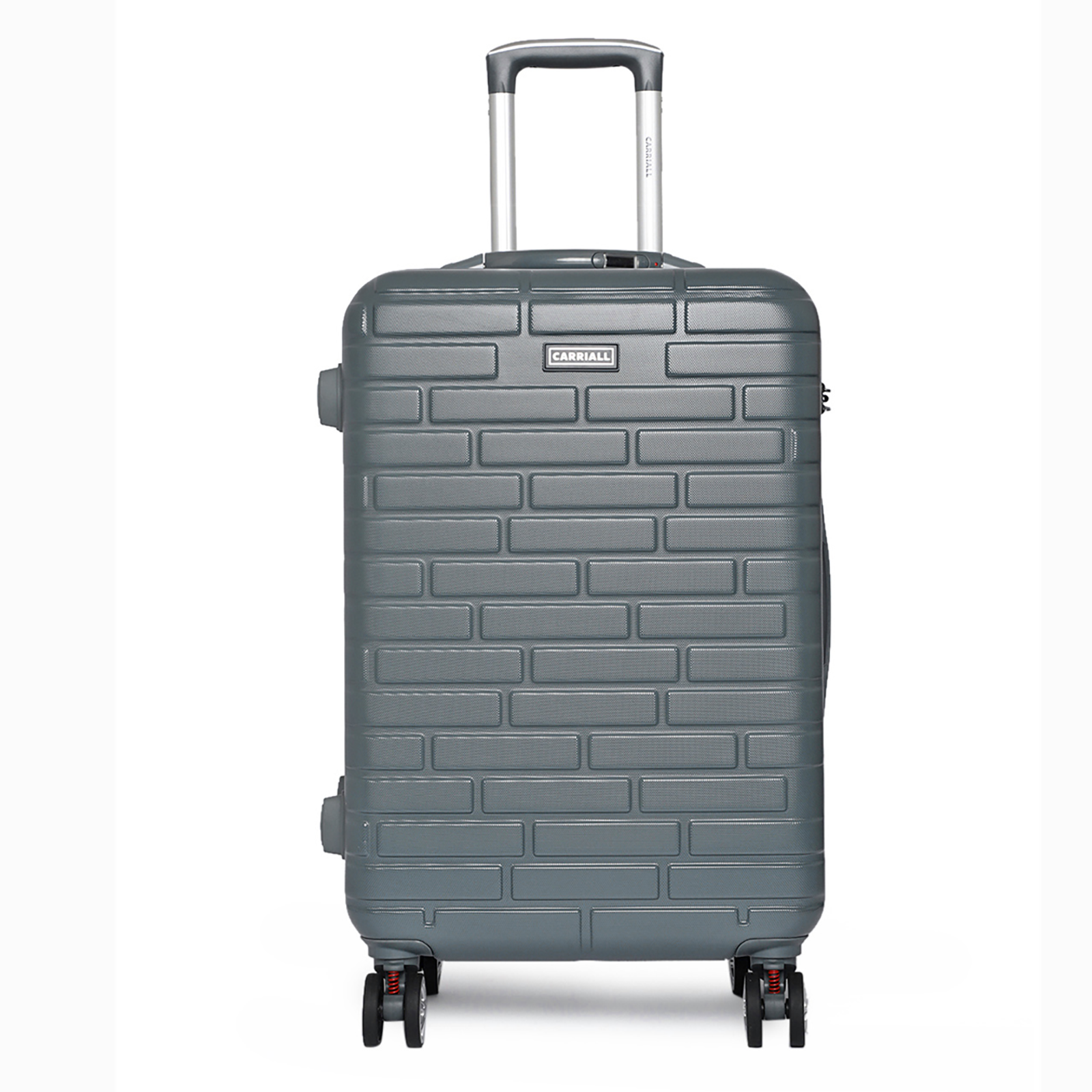Carriall Planar Polycarbonate Trolley Bag (Built-In Weight Scale, USB Charging Port, CALM0003, Grey)_1