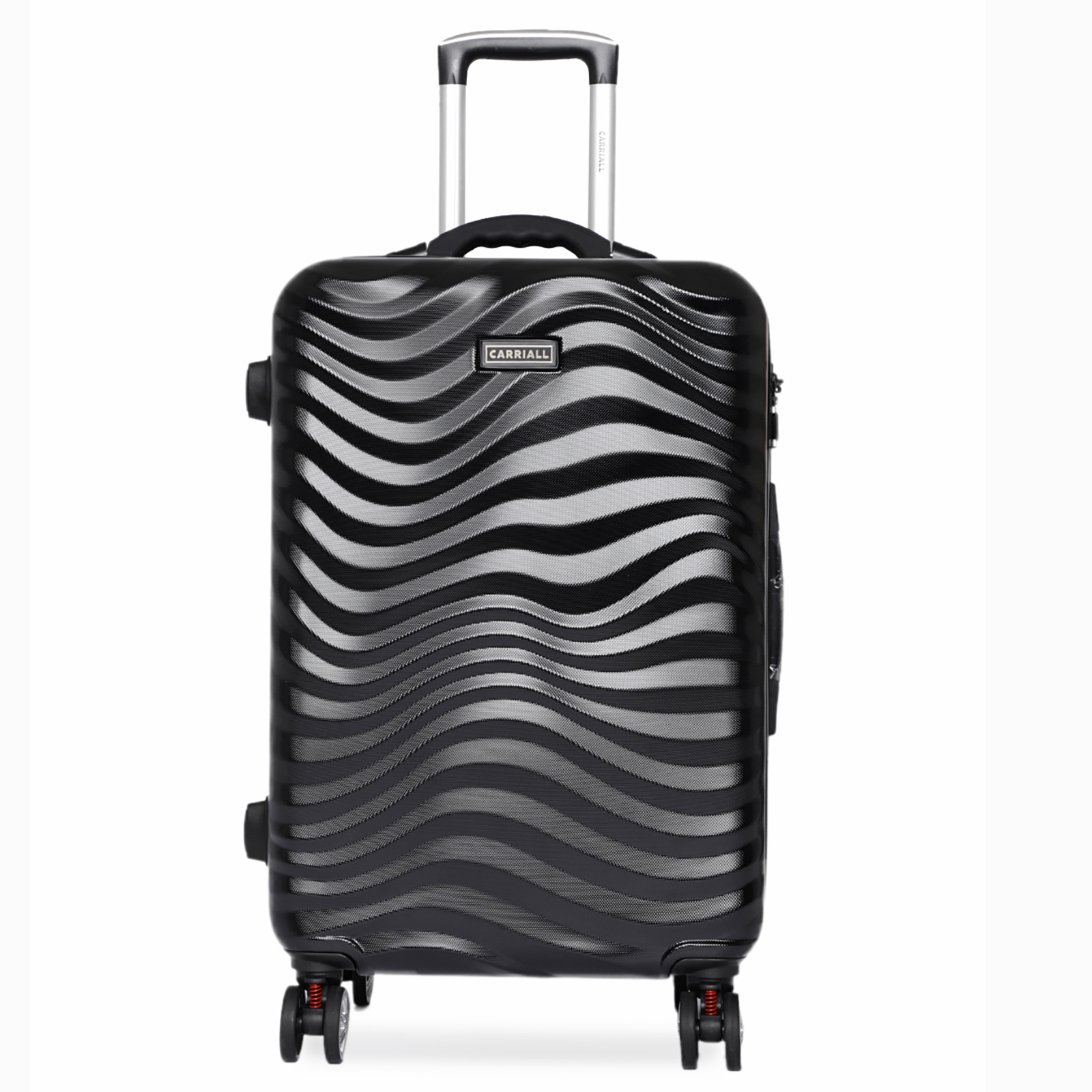 Carriall Ripple Polycarbonate Trolley Bag (Smart Anti-Theft, Built-In Weight Scale, CALM0002, Black)_1