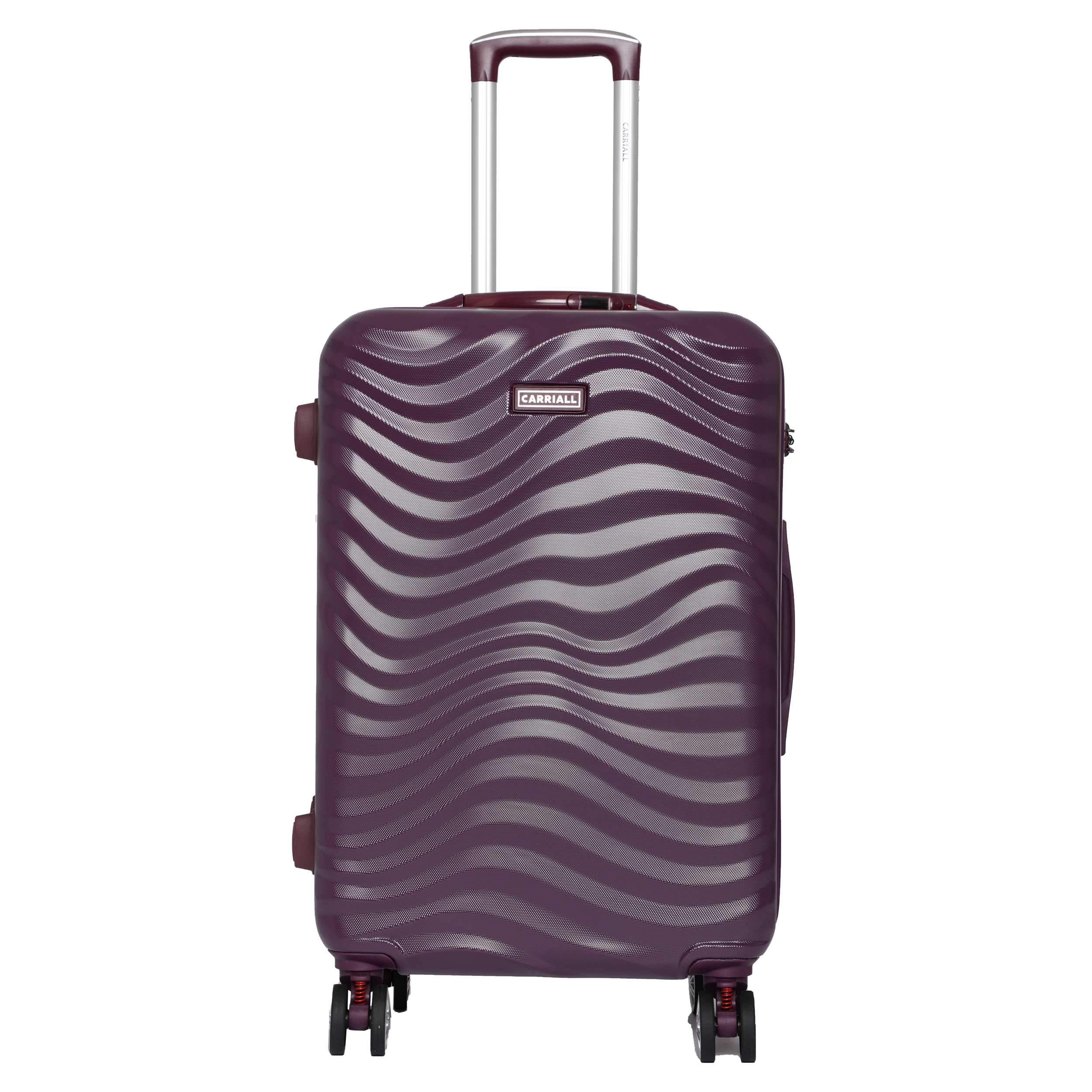 Carriall Ripple Polycarbonate Trolley Bag (Smart Anti-Theft, Built-In Weight Scale, CALM0004, Purple)_1