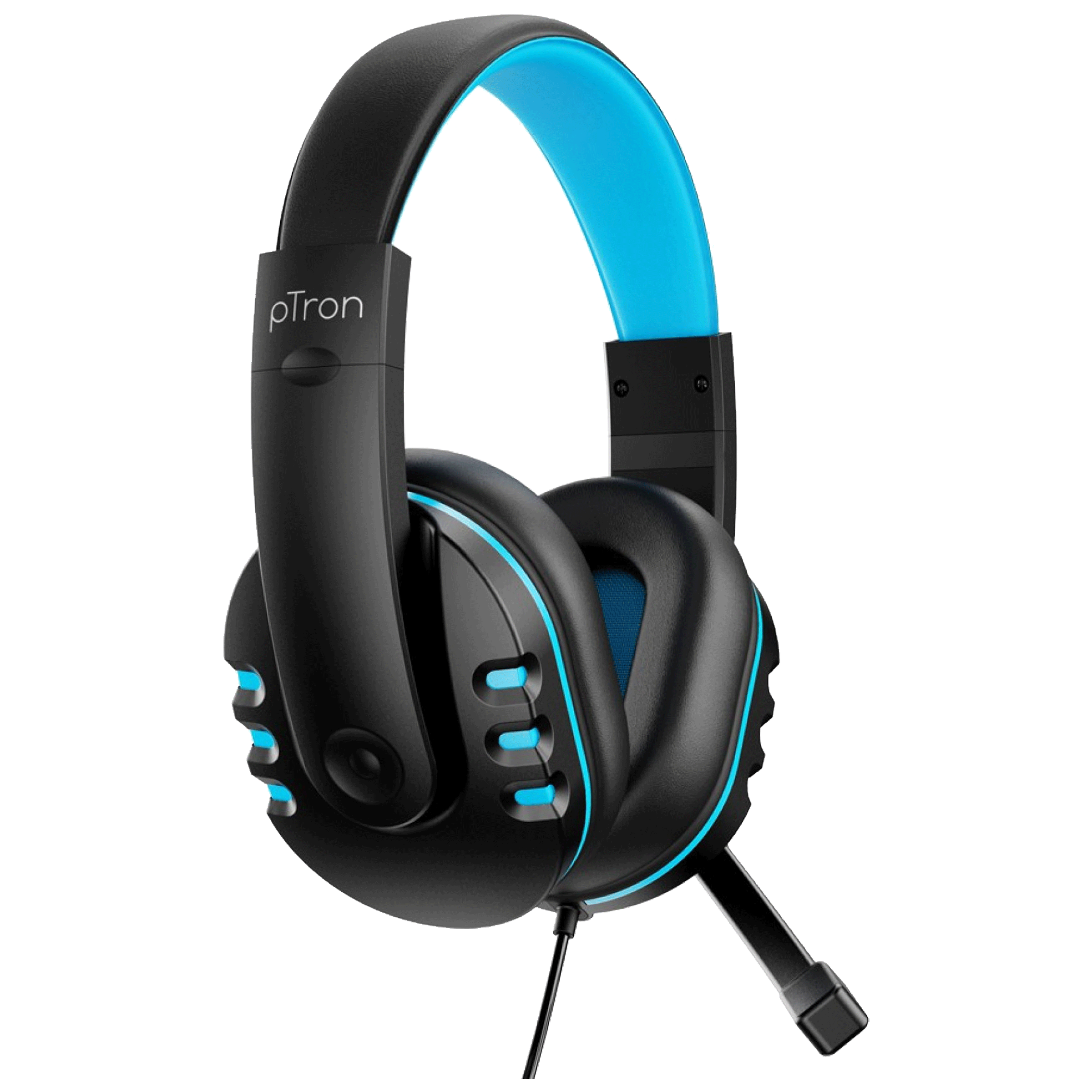 pTron Soundster Arcade Over-Ear Wired Gaming Headphone with Mic (40mm Dynamic Driver, 140317988, Black/Blue)_1