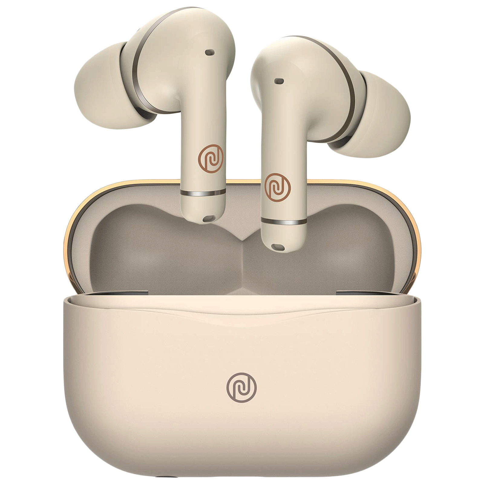 Noise Buds Solo In-Ear Hybrid Active Noise Cancellation Truly Wireless Earbuds With Mic (Bluetooth 5.0, 36-Hour Playtime, Ecru Gold)_1
