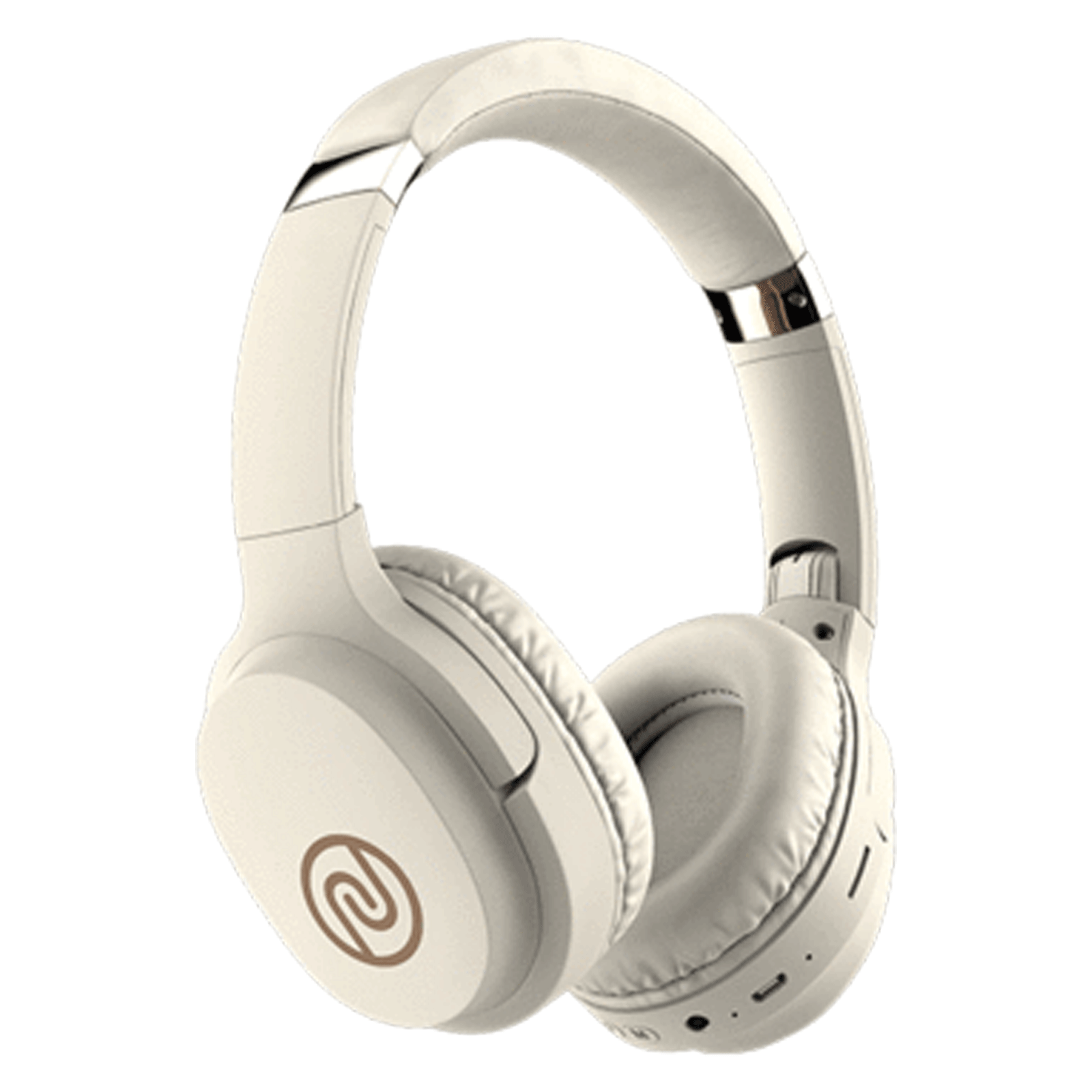 Noise One On-Ear Noise Isolation Wireless Headphone with Mic (Bluetooth 5.0, Tru BassTM Technology, Warm Beige)_1