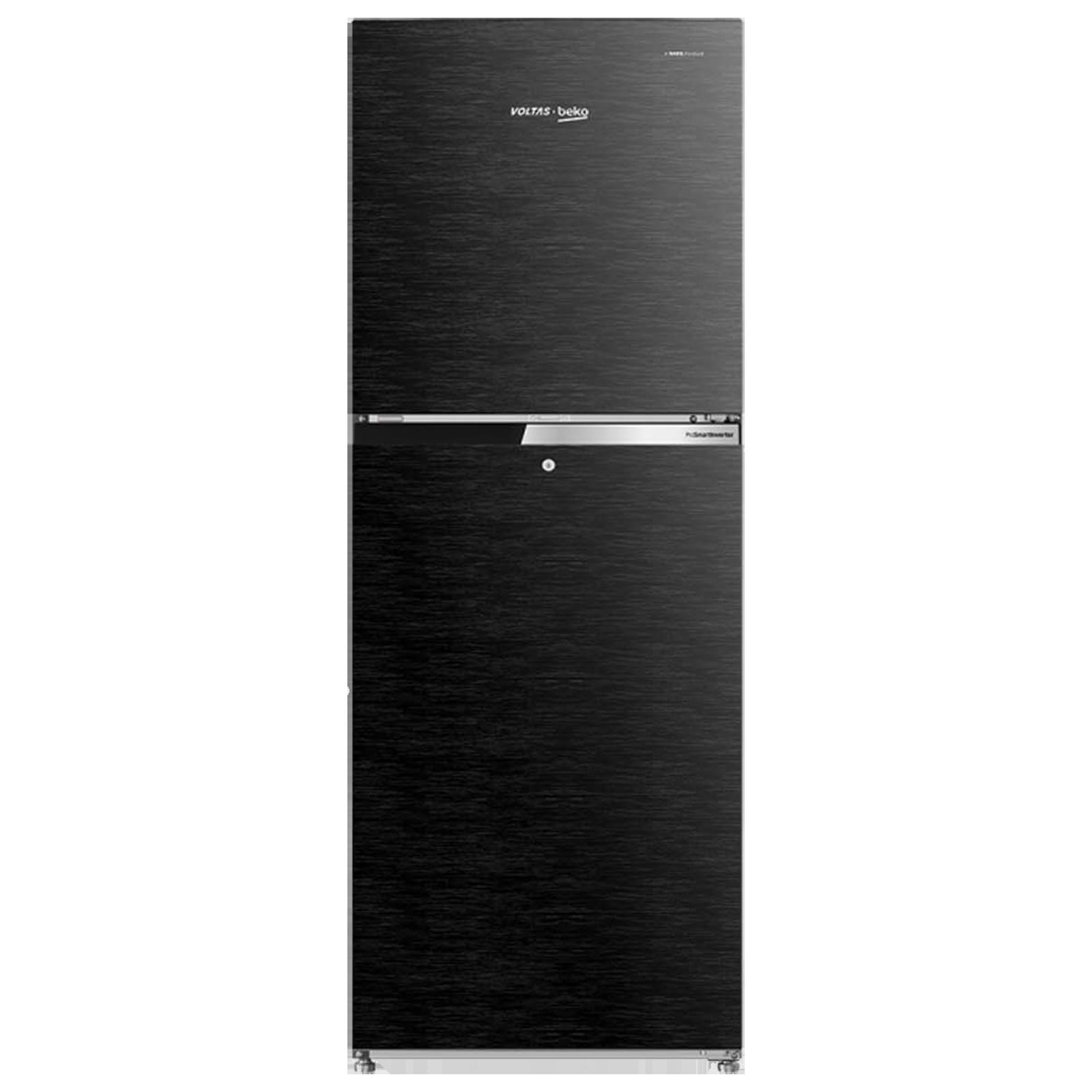 Voltas Beko 251 Litres 2 Star ProSmart Inverter Double Door Refrigerator (Neo Frost Dual Cooling, RFF2753XBC, Wooden Black)_1