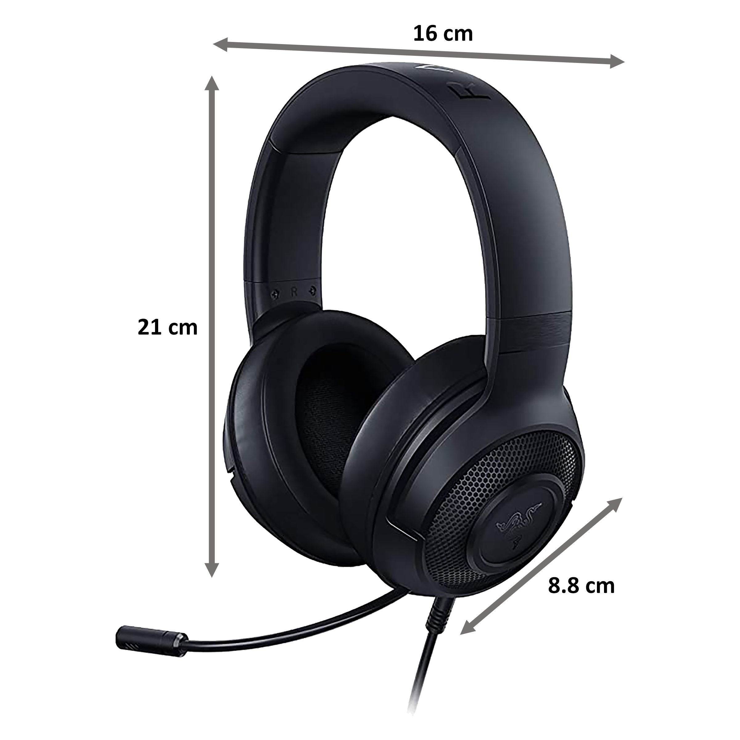 Razer Kraken Over-Ear Wired Gaming Headset with Mic (Clear & Powerful Sound, RZ04-02830100-R3M1, Black)_2
