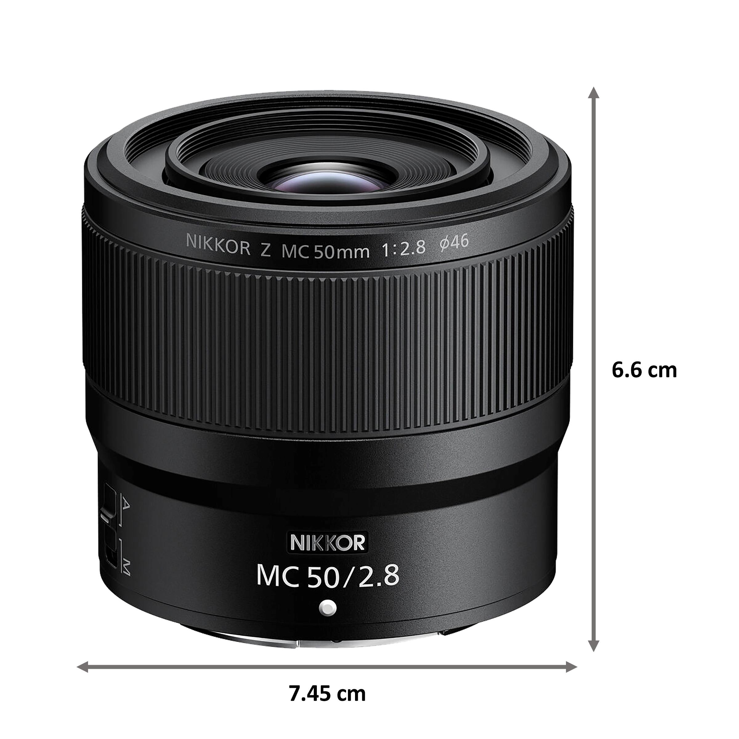 Lens - Nikon Nikkor Z MC 50mm f/2.850 mm F22-F2.8 Macro Lens (1:1 Magnification, JMA603DA, Black)_2