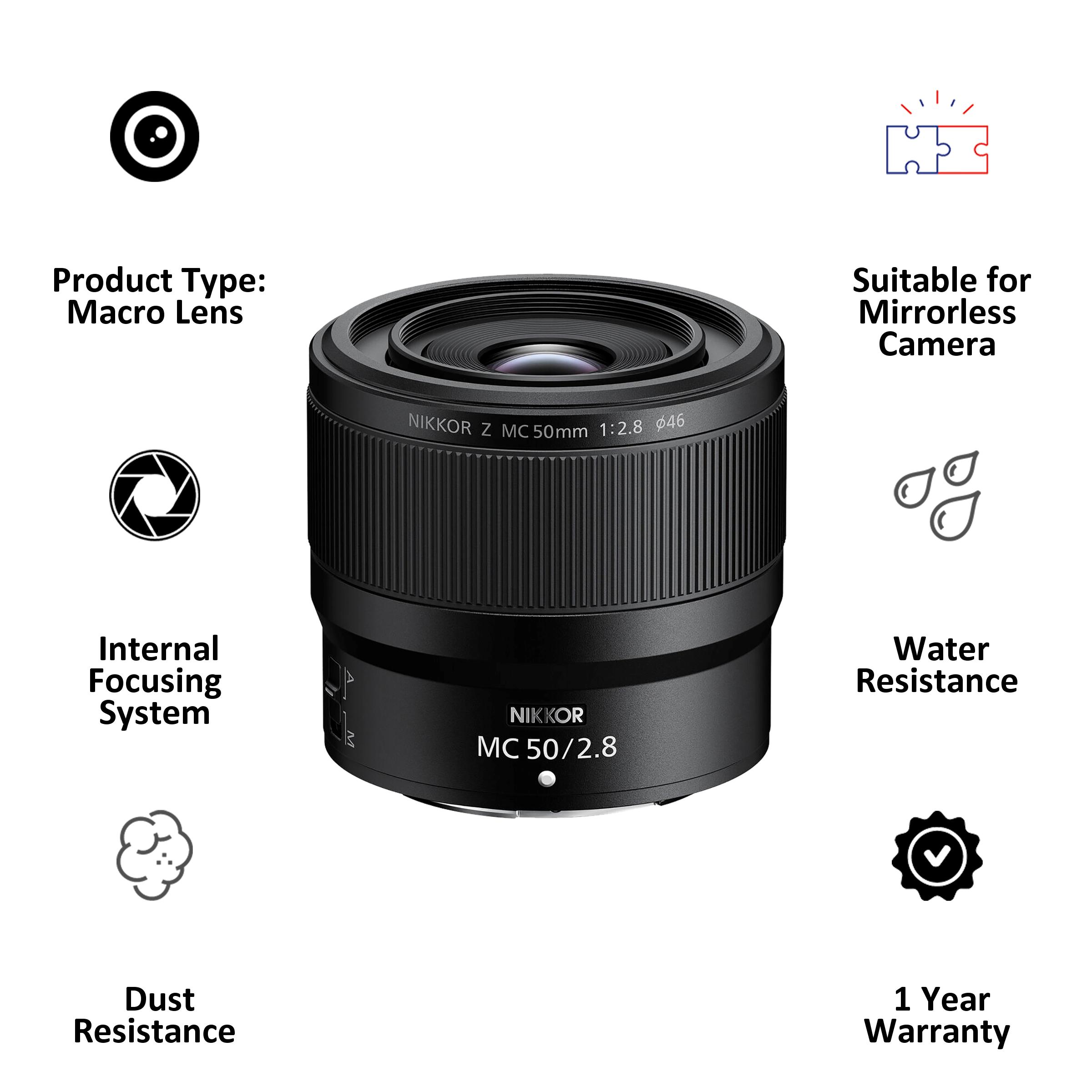 Lens - Nikon Nikkor Z MC 50mm f/2.850 mm F22-F2.8 Macro Lens (1:1 Magnification, JMA603DA, Black)_3